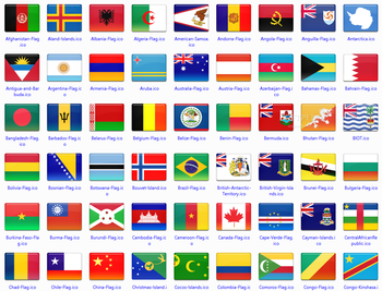172 final country flag icons screenshot