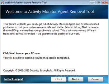 Activity Monitor Agent Removal Tool screenshot