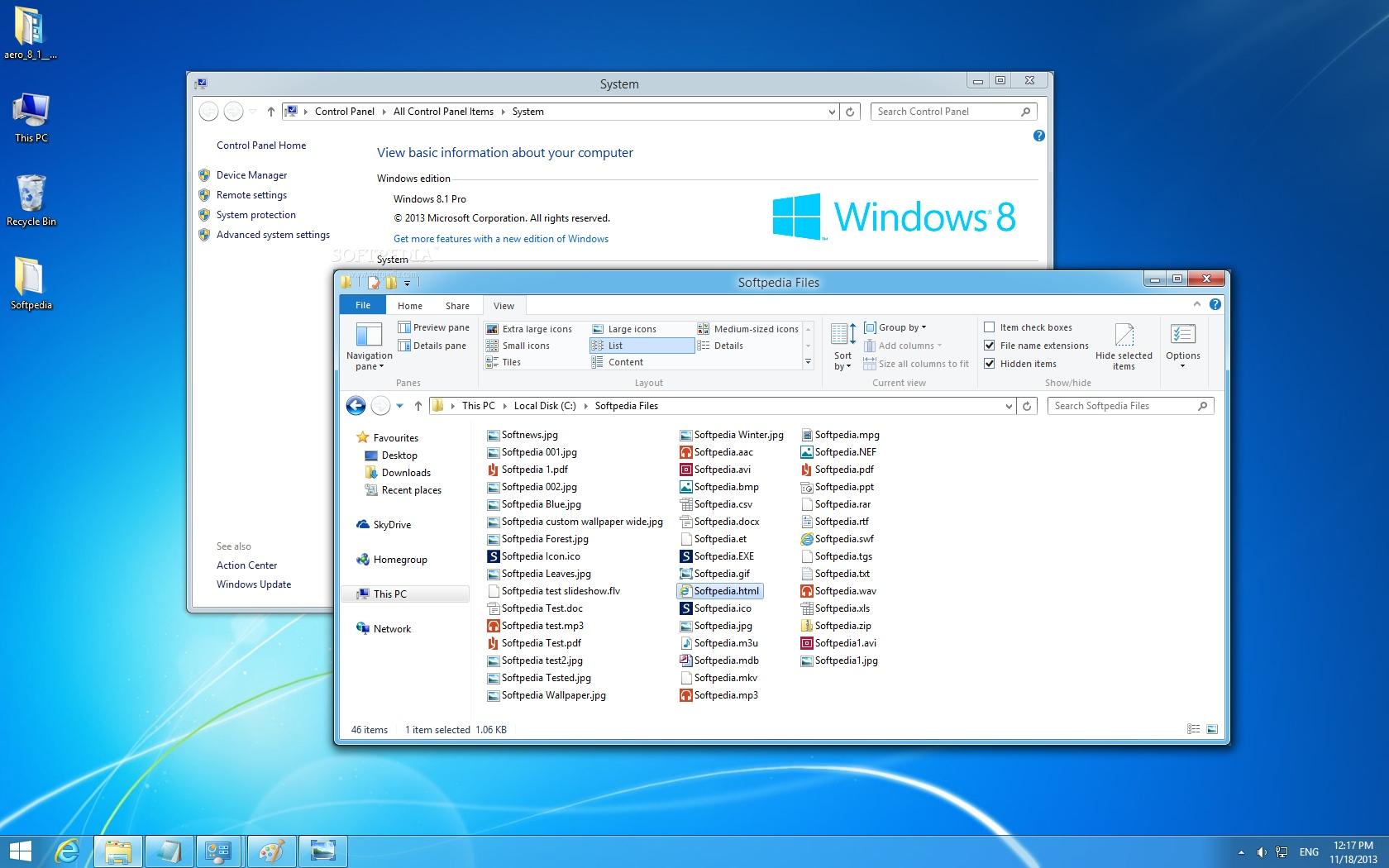 Windows aero theme