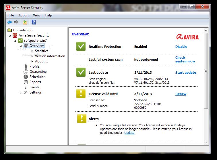 Avira server security инструкция