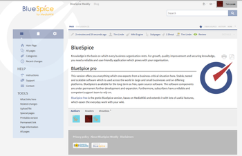 BlueSpice Free screenshot