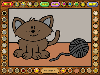 Coloring Book 10 Baby Animals Screenshot