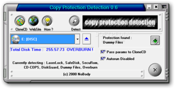 Copy Protection Detection screenshot