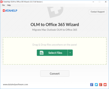 DataHelp OLM to Office365 Wizard screenshot 4