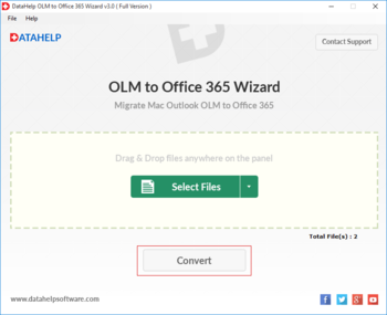 DataHelp OLM to Office365 Wizard screenshot 5