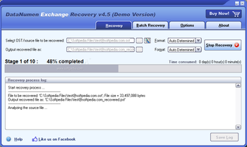 DataNumen Exchange Recovery screenshot