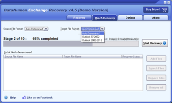 DataNumen Exchange Recovery screenshot 2