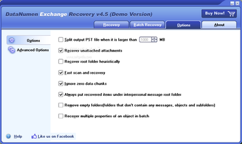 DataNumen Exchange Recovery screenshot 3