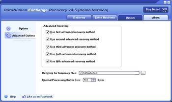 DataNumen Exchange Recovery screenshot 4
