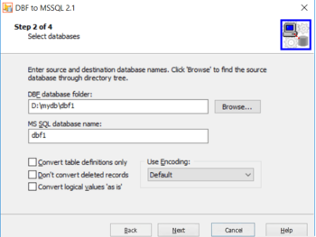 DBF to MSSQL screenshot 3