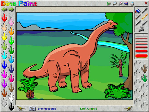 DinoPaint Coloring Book Game Free Download