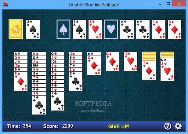 Double Klondike Solitaire Free
