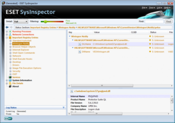 ESET SysInspector screenshot