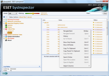 ESET SysInspector screenshot 2
