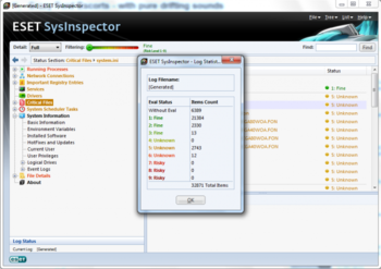 ESET SysInspector screenshot 3
