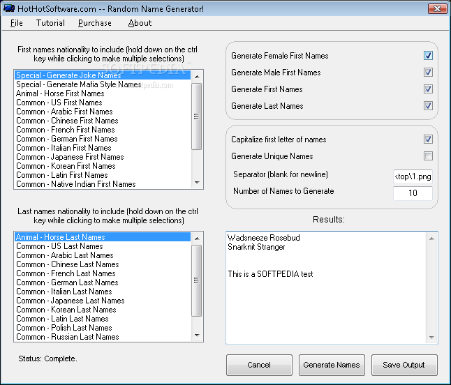 Hothotsoftware Random Name Generator Download Free With