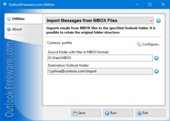 Import Messages from MBOX Files screenshot