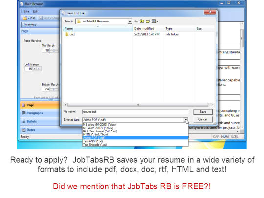 jobtabs free resume builder download free with screenshots and review