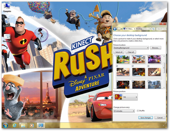 Kinect Rush: A Disney•Pixar Adventure Theme screenshot