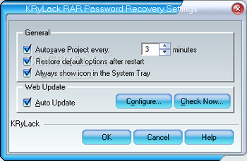 KRyLack RAR Password Recovery screenshot 4