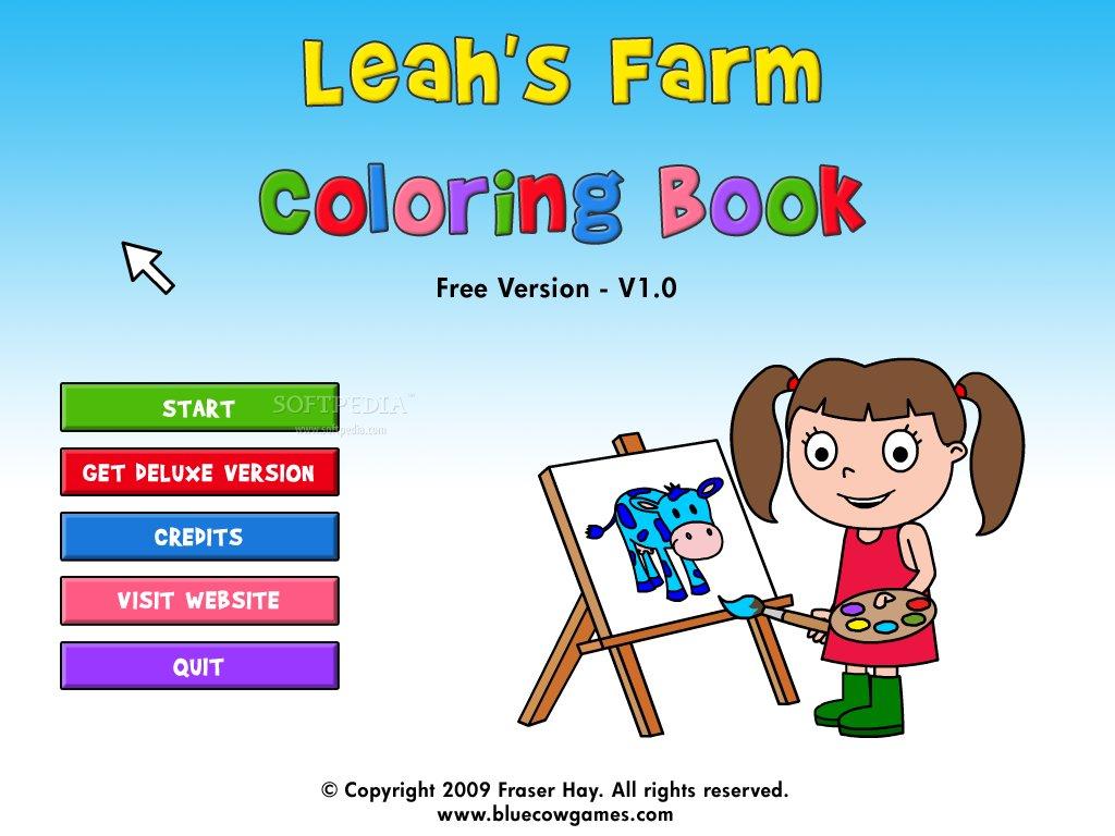 leah u0027s farm coloring book game free download