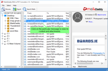 MailsDaddy EML to PST Converter screenshot 2