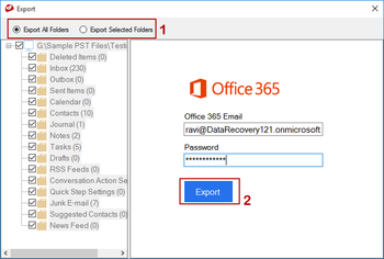 MailsDaddy PST to Office 365 Migration Tool screenshot 3
