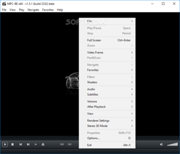 Media Player Classic - Black Edition Portable screenshot 2