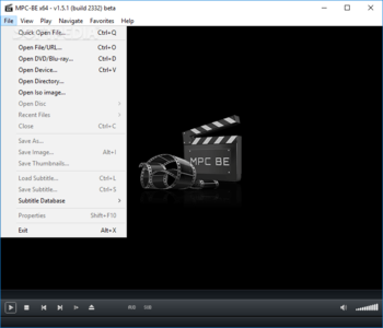 Media Player Classic - Black Edition Portable screenshot 3