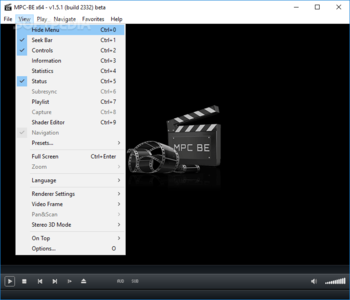 Media Player Classic - Black Edition Portable screenshot 4