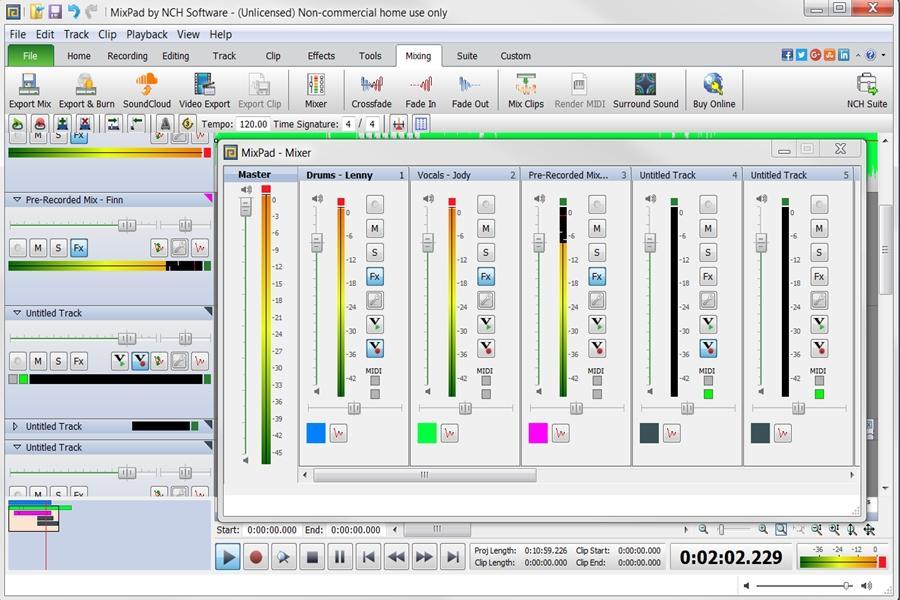 MixPad Free Music Mixer and Studio Recorder - Download Free