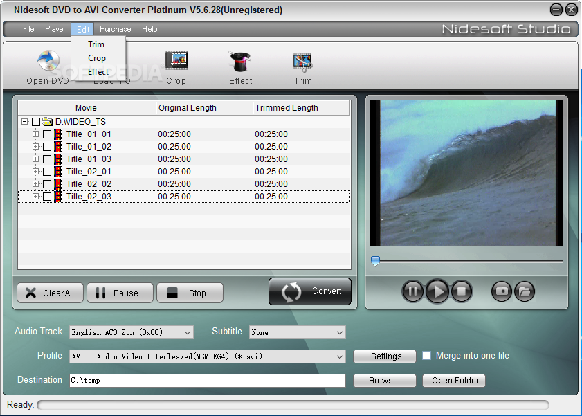 Nidesoft DVD to AVI Converter Download