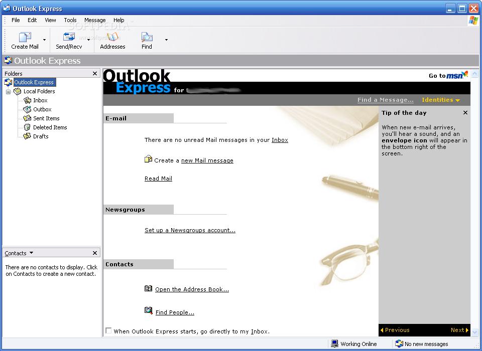 outlook express скачать бесплатно русская версия для windows 7