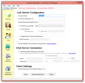 Outlook Messenger Link Server Pro - Review and Download