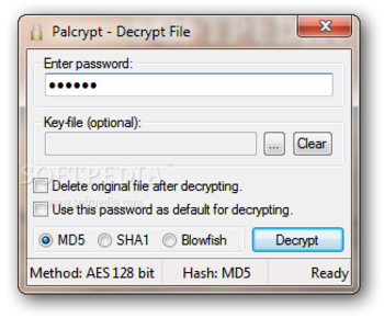 PalCrypt screenshot 2