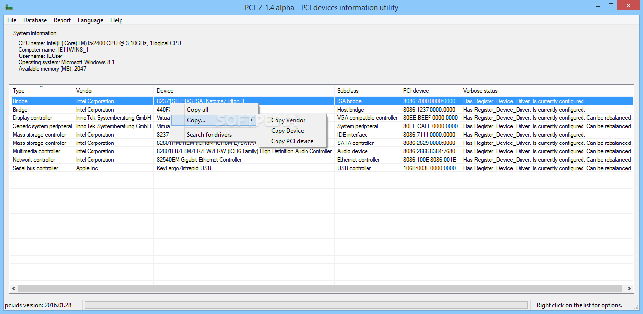 PCI-Z - Download Free with Screenshots and Review