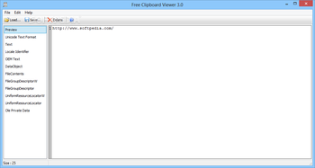 Portable Free Clipboard Viewer screenshot