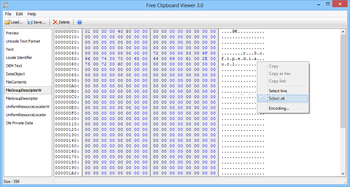 Portable Free Clipboard Viewer screenshot 3