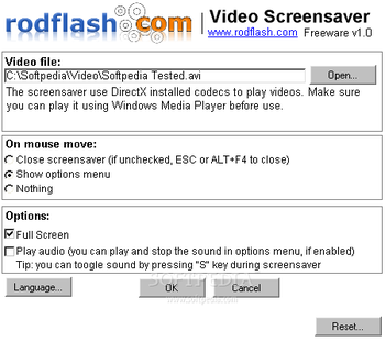 rodflash Video Screensaver screenshot 2