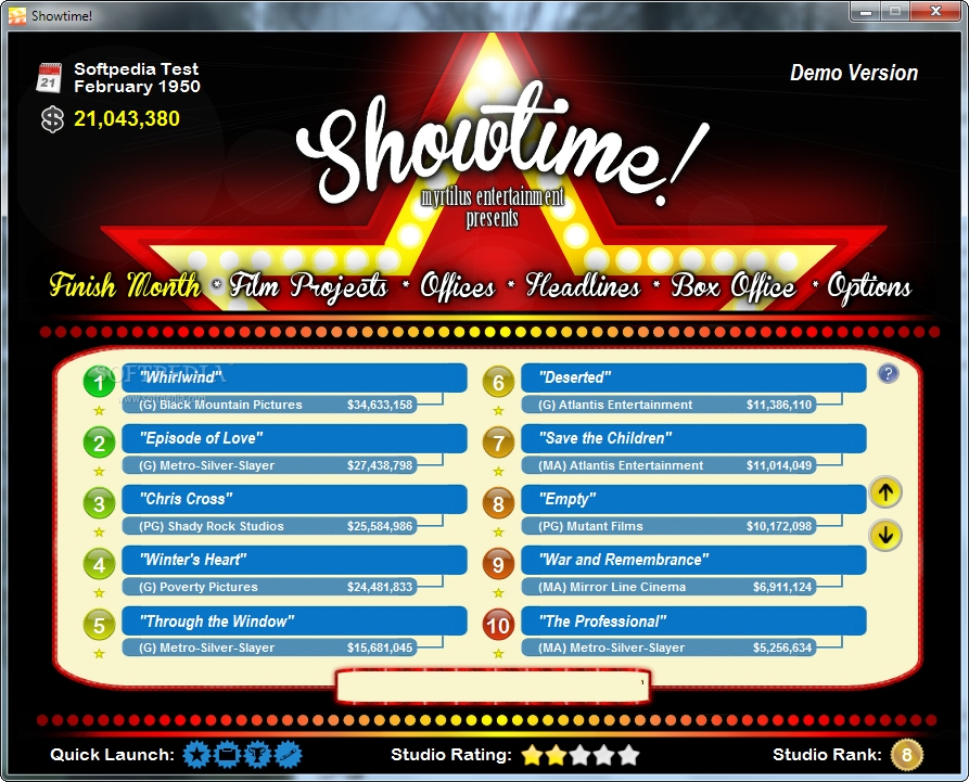 Showtime Game