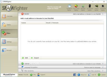 SPAMfighter Standard screenshot 3
