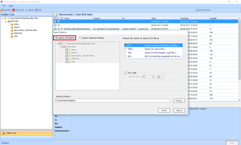 SysTools DBX to PST Converter screenshot