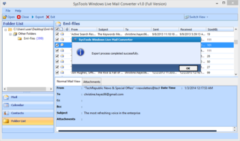 SysTools Windows Live Mail Converter screenshot