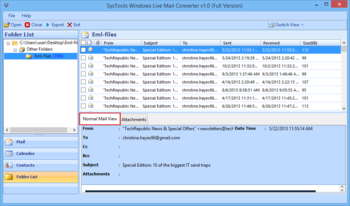 SysTools Windows Live Mail Converter screenshot 3
