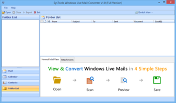 SysTools Windows Live Mail Converter screenshot 4