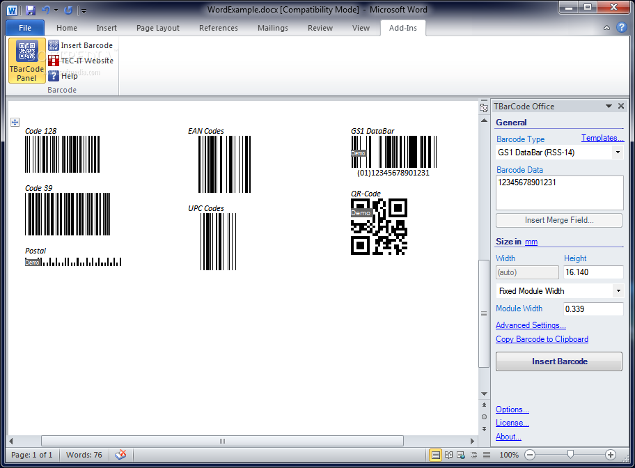 TBarCode Office - Download Free with Screenshots and Review