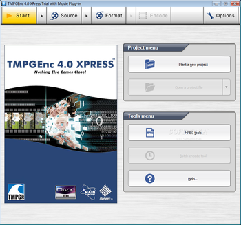 TMPGEnc XPress screenshot