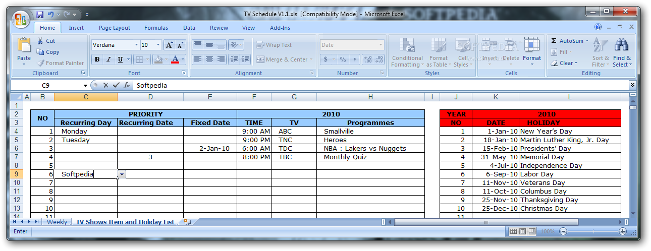 tv schedule download free with screenshots and review