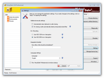 Virtual Safe Professional screenshot 3