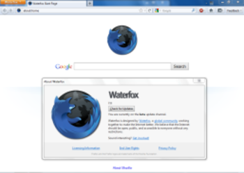 Waterfox Portable  screenshot